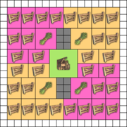 Fields of 8 rectangles