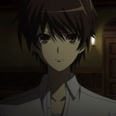 Kouichi's determined face.