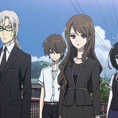 Mikami-sensei attends Junta's funeral.