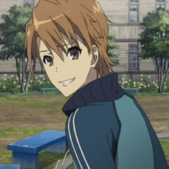 Naoya in his standard school attire.