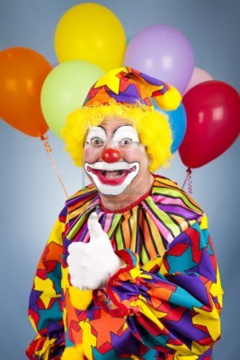 Image - 06903300-happy-clown-with-balloons-giving-thumbs ... Happy Clown Pictures