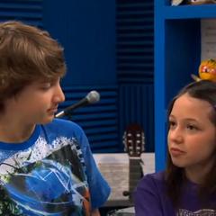 Fletcher looks at Violet