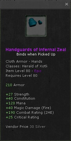 Handguards of infernal zeal