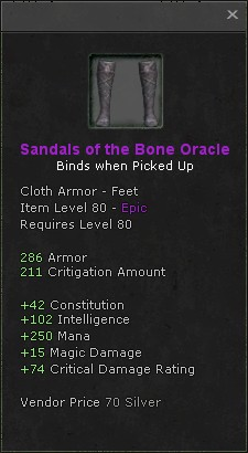 Sandals of the bone oracle