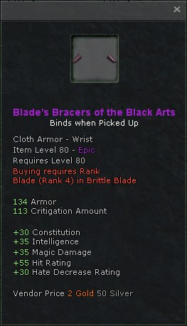 Blades bracers of the black arts