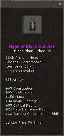 Helm of black oblivion