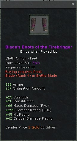 Blades boots of the firebringer