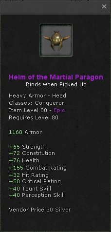 Helm of the martial paragon