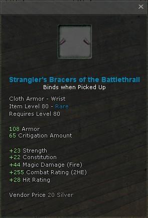 Stranglers bracers of the battlethrall