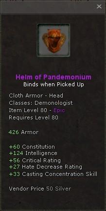 Helm of pandemonium