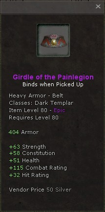 Girdle of the painlegion