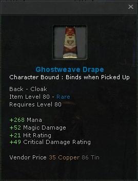 Ghostweave Drape