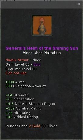 Generals helm of the shining sun