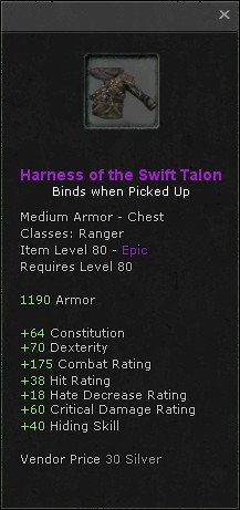 Harness of the swift talon
