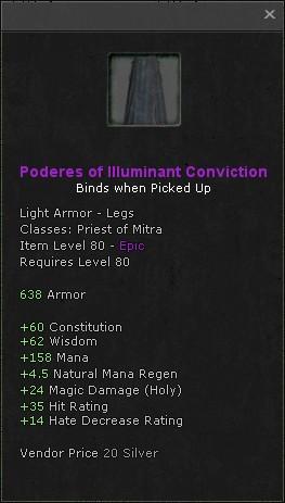 Poderes of illuminant conviction