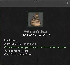 Veterans bag