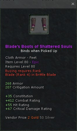Blades boots of shattered souls