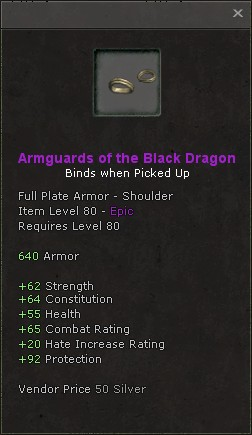 Armguards of the black dragon