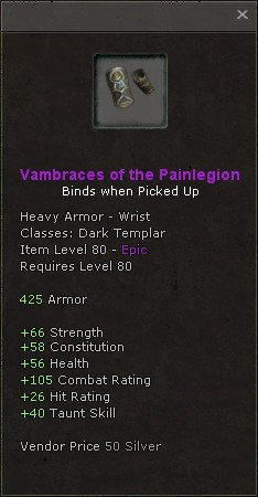 Vambraces of the painlegion