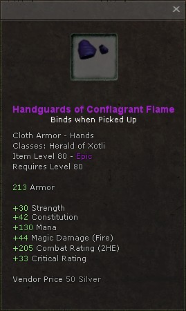 Handguards of conflagrant flame