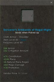 Sorcerers armbands of regal might