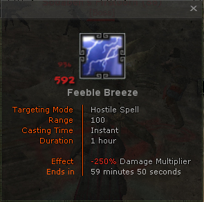 Feeble breeze