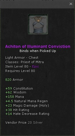 Achiton of illuminant conviction