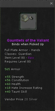 Gauntlets of the valiant
