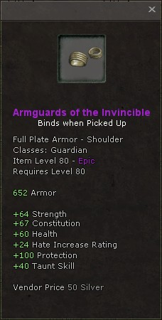 Armguards of the invincible