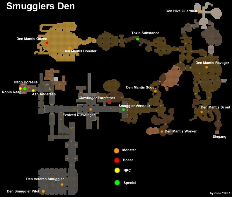 Smugglers den map