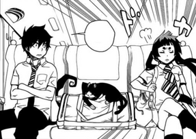 Izumo sits next to Rin