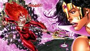 Red Lantern Mera vs Star Sapphire Wonder Woman