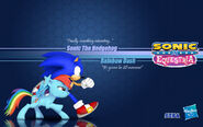 Sonic x equestria sonic and r dash wallpaper by static the hedgehog-d54osgd