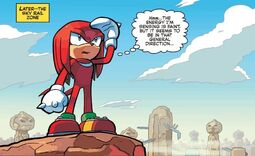 Knuckles in Sky Rail Zone