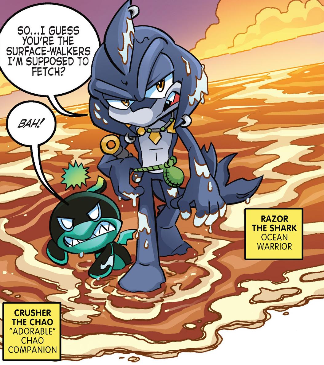 Razor Side By Side >> Razor the Shark | Mobius Encyclopaedia | FANDOM powered by ...