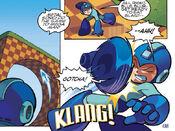 Sonic Attacks Mega Man
