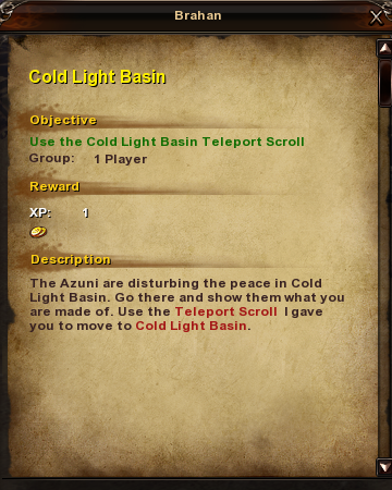 120 Cold Light Basin quest