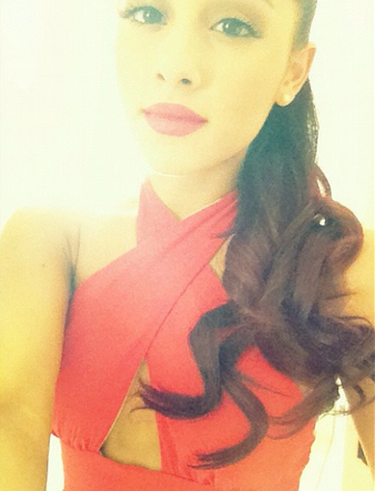 File:Ariana In Red Dress Going To The Emmys.jpg