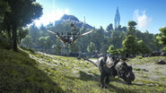 ARK-Tyrannosaurus and Quetzalcoatlus Screenshot 001