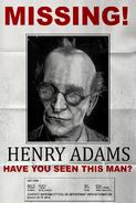Henry Adams Missing Poster