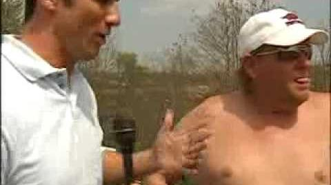 John Daly Interview While Playing Golf -- No Shirt Or Shoes
