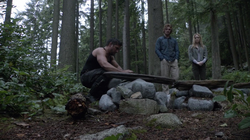 Slade, Oliver and Sara bury Shado