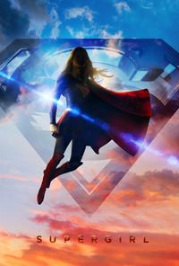 Supergirl flying poster