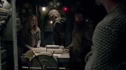 Sara, Oliver and Anatoly on the Japanese submarine