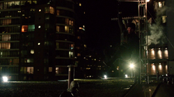 Oliver moves over a city's rooftops for the first time