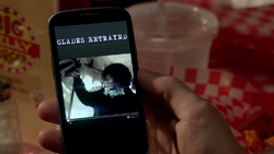 Glades Betrayed on Oliver's phone