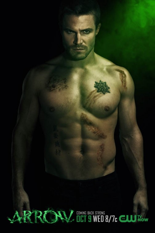 Oliver Queen Tattoo From Constantine: Oliver Queen Season 2 Shirtless Promo.png