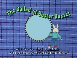The Ballad of Buster Baxter Title Card