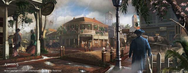 File:1777 New Orleans Downtown street by EddieBennun.jpg
