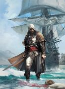 More Edward Kenway Pirate Cloak - Concept Art